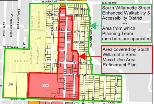 South Willamette Street Initiative Plan Area